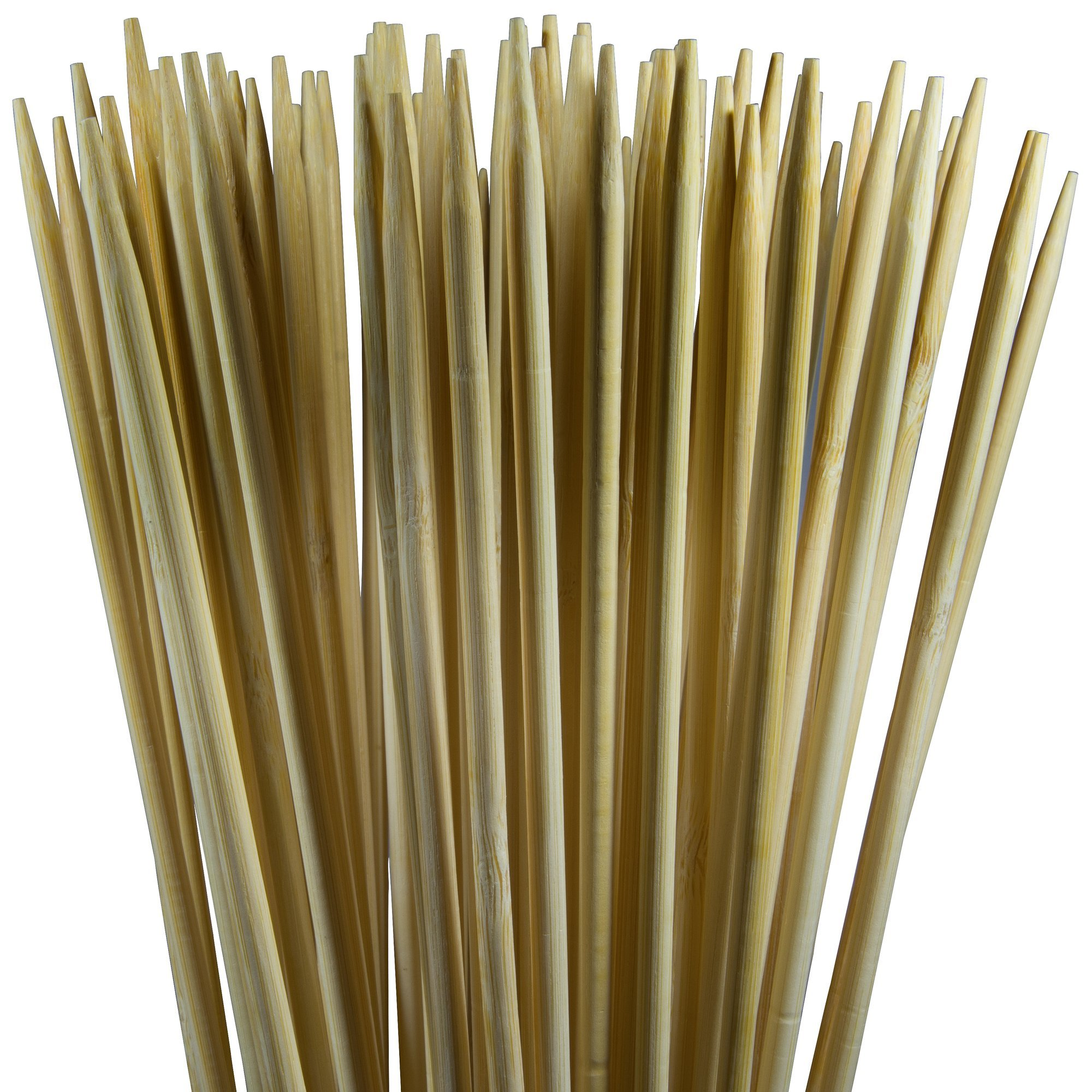 Rainier Outdoors Marshmallow Roasting Sticks, Natural Bamboo (36 x 0.2-Inch, 110 Pieces) by Rainier Outdoors