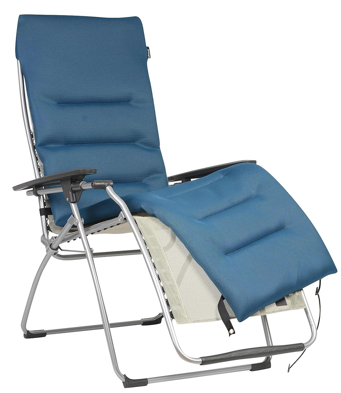 Lafuma gepolsterte Air Air Air Comfort Auflage für Relax-Liegestühle, Schwarz (Acier) 6fe0be