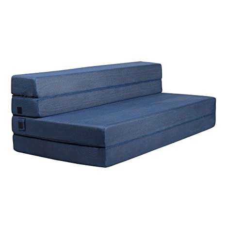 Milliard- Espuma Colchón y sofá Cama Plegable en Tres Partes 11,5 cm Sillón Cama o colchoneta - Doble (190 x 135 cm)
