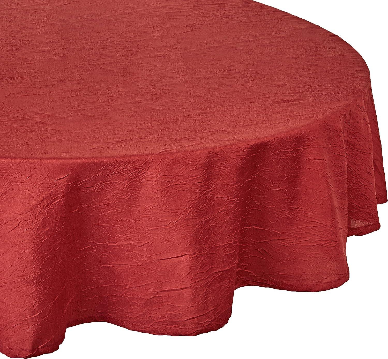 Calitex S5D23HT661A Taffetas Froisse Nappe Polyester Carmin 180 x 180 cm