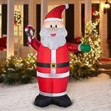 Inflatable Santa LED - 7ft tall - Outdoor Yard Christmas Airblown