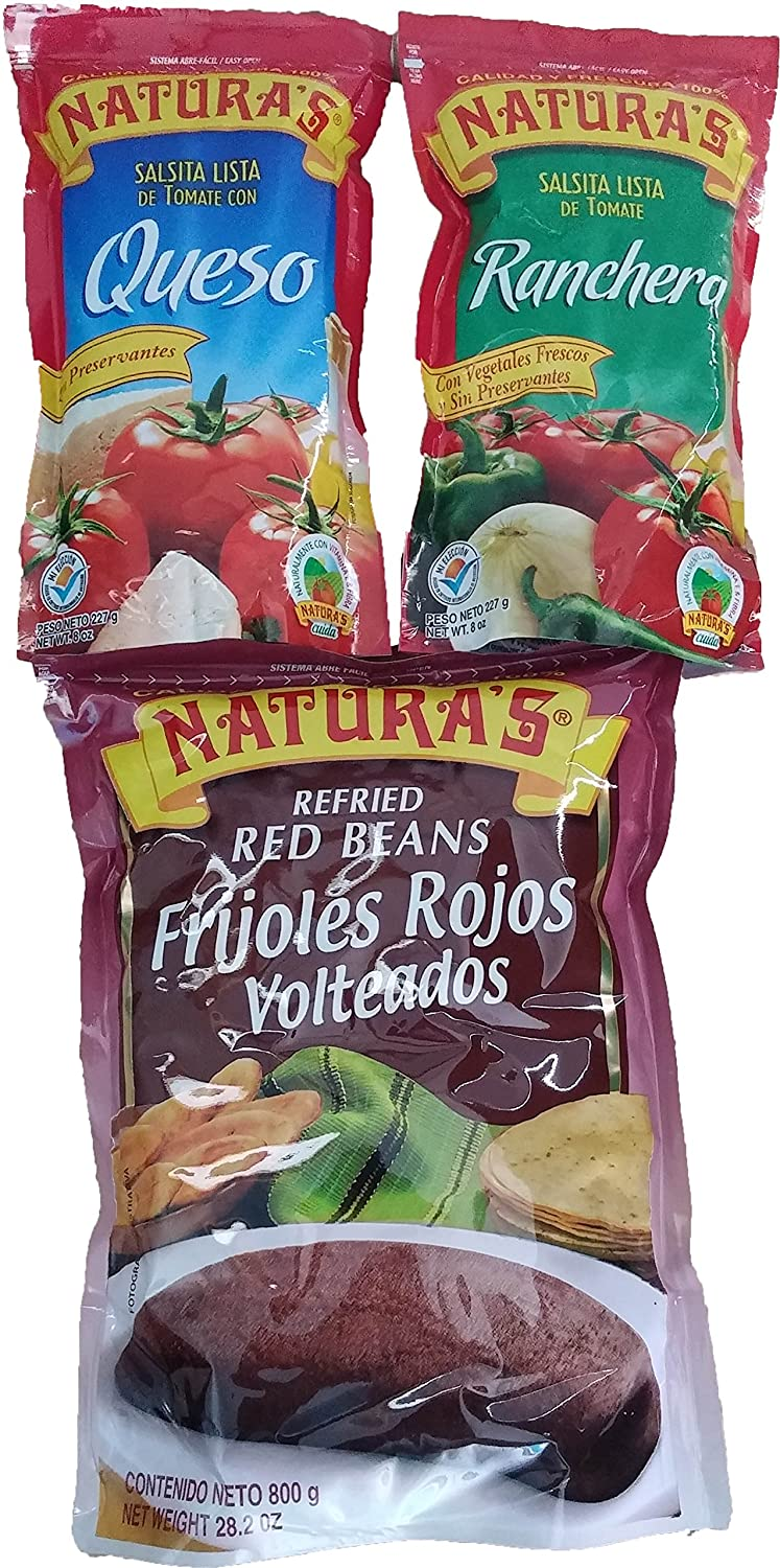 Amazon.com : Combo Naturas Salsa De Queso Y Ranchera/ Naturas Combo Ranchera Sauce, with Cheese and Refried Beans : Grocery & Gourmet Food