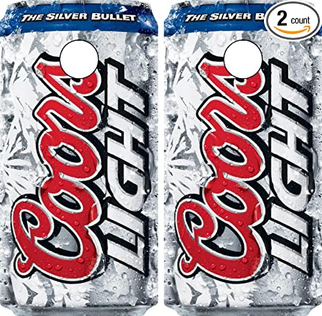 C268 Coors Light CORNHOLE WRAP WRAPS LAMINATED Board Boards Decal Set  Decals Vinyl Sticker Stickers Bean