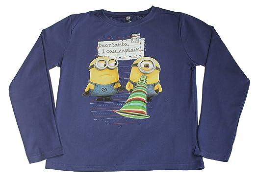 52e73a9957c43 Despicable Me - T-Shirt à manches longues - Fille  Amazon.fr ...