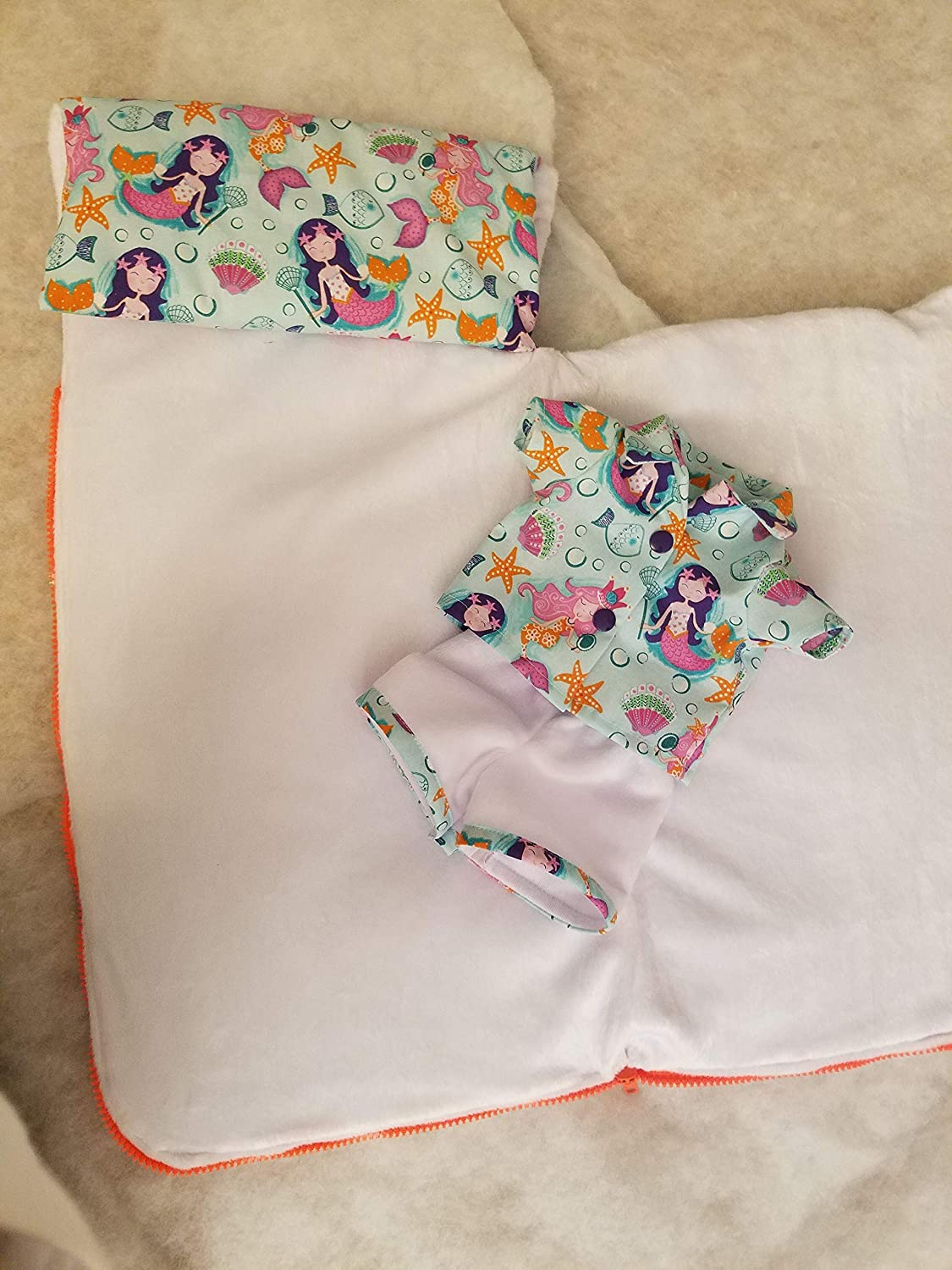 sleeping bag with matching PJs American girl or 18 inch doll
