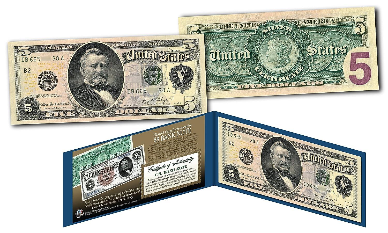 Amazon Morgan Silver Back 1886 5 Grant Silver Certificate