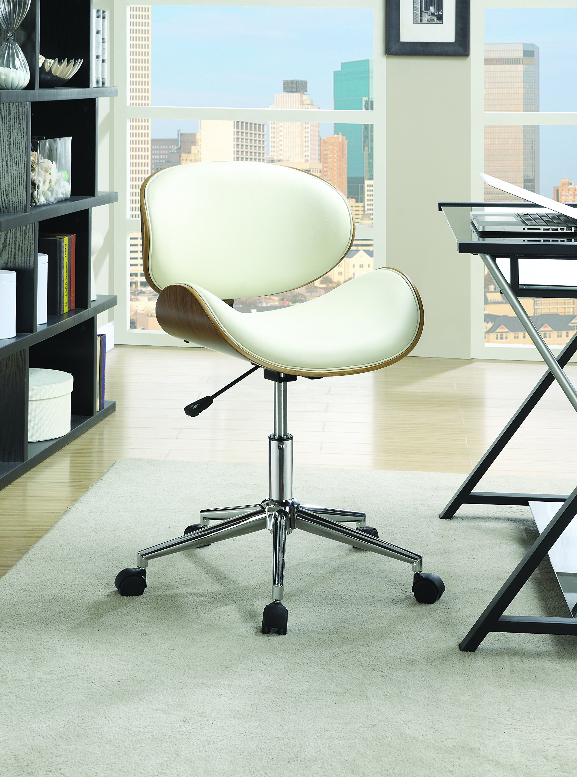 Coaster Home Furnishings 800615 Leatherette Office Chair, NULL, Ecru by Coaster Home Furnishings (Image #2)