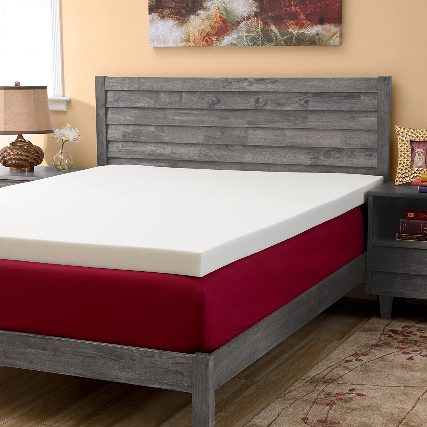 LIFE Home Home Life Cooling Gel Ventilated Memory Thin Mattress, Twin, White