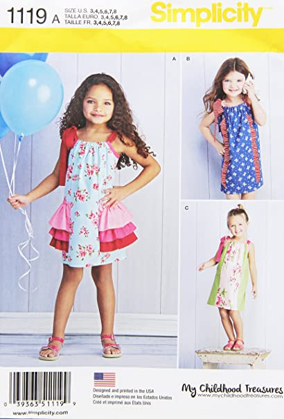 Amazon Com Simplicity Patterns 1119 Children S Pillowcase Dresses
