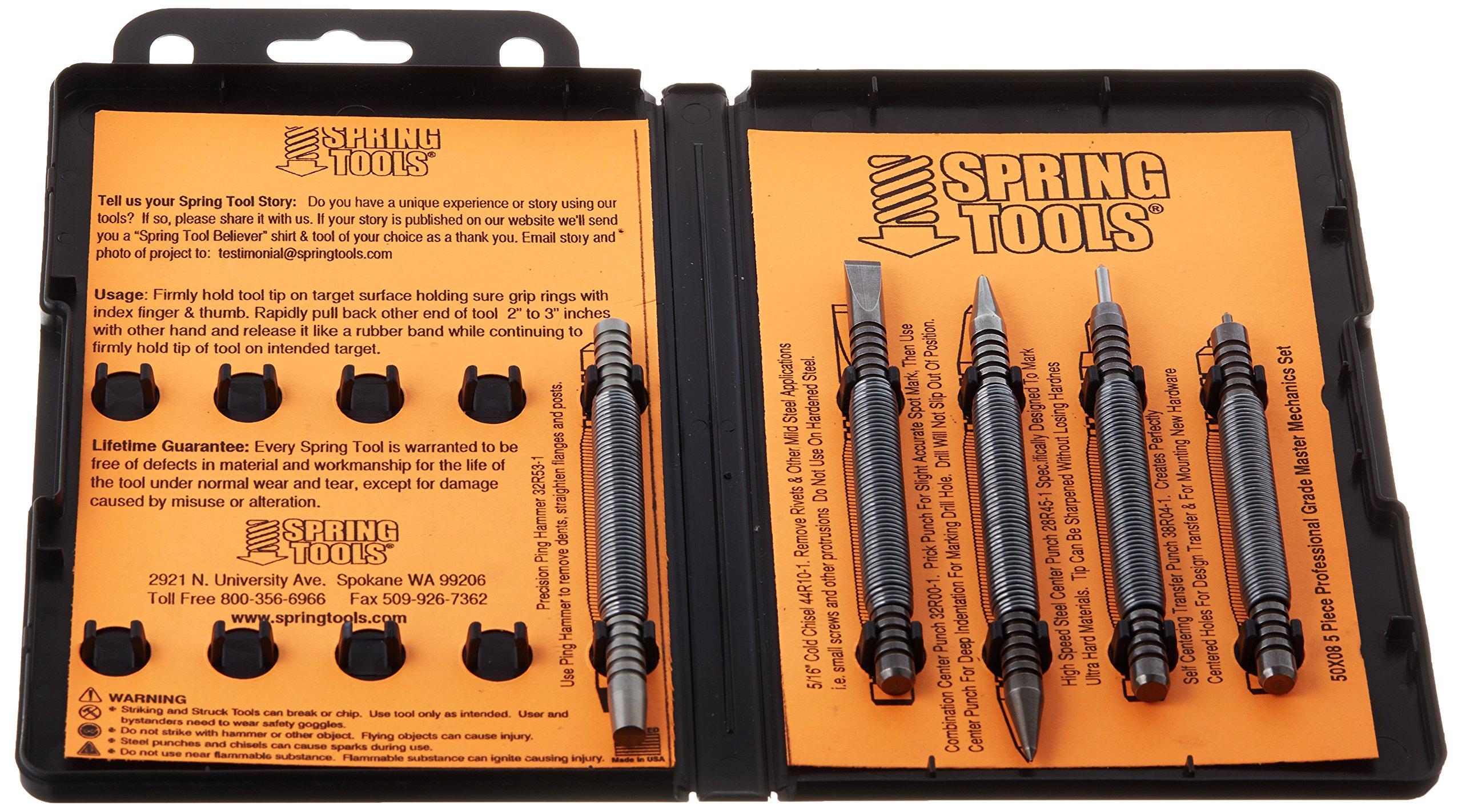 Spring Tools 50X08 Hammerless Mechanics Custom Metal Working Set (5 Piece) by Spring Tools