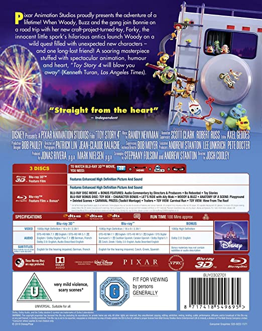 Amazon com: Toy Story 4 [Blu-ray + 3D] [2019] [Region Free