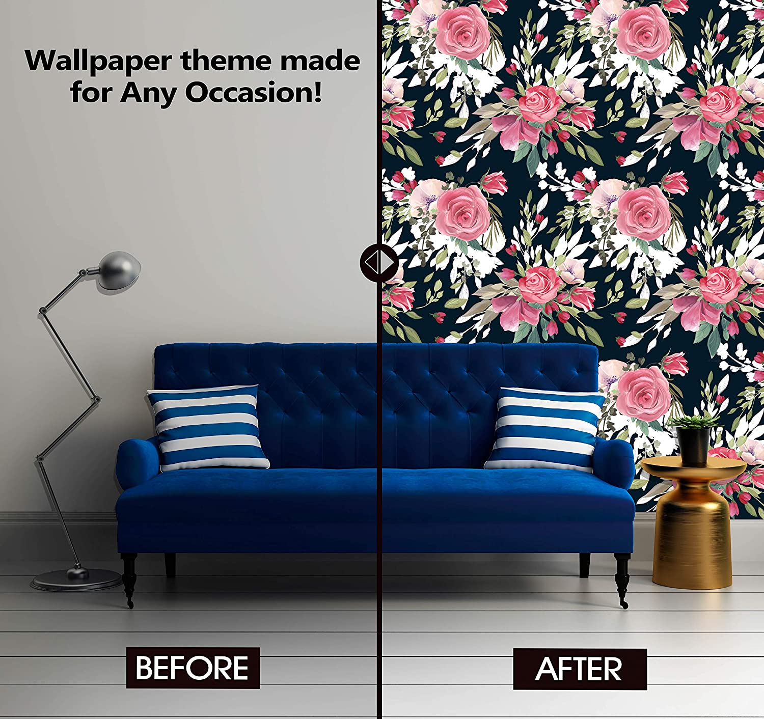 Amazon Com Abstract Beautiful Flowers Theme Wallpaper Mural For Interior Design Peel And Stick Wallpaper Decor You Walls For Any Occasion R248 24 X 36 Home Kitchen