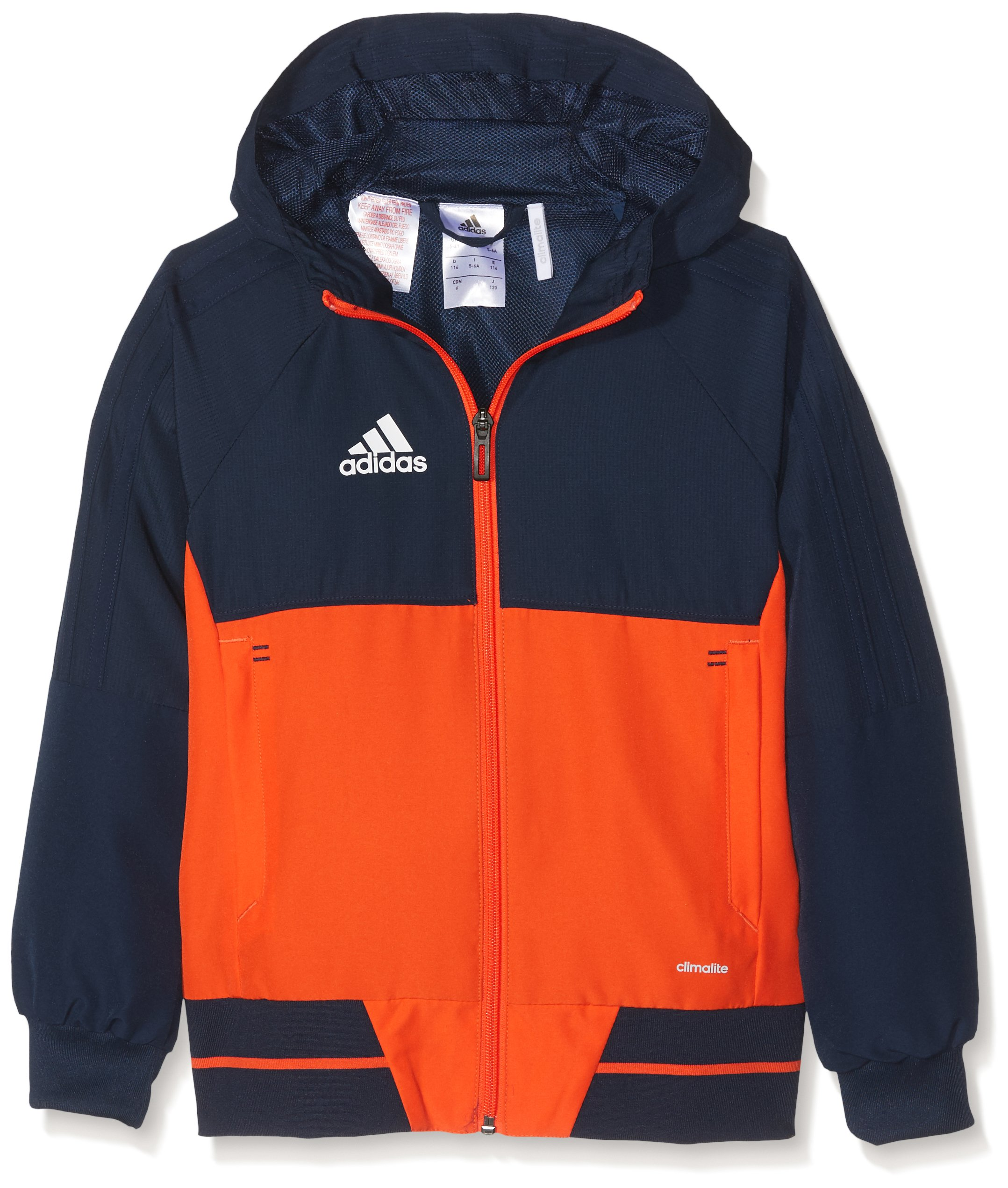 adidas Tiro 17 Plain Presentation Jacket - Youth - Navy/Orange - Age 11-12