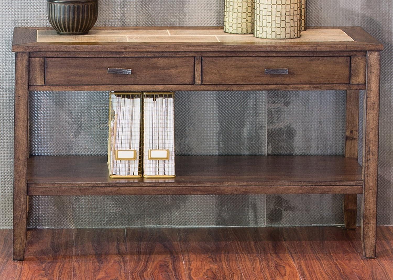 Liberty Furniture Industries Mesa Valley Sofa Table, W47 x D18 x H30, Medium Brown