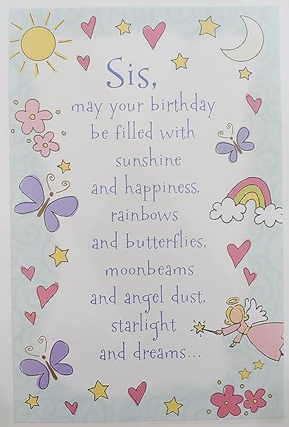 Amazon Happy Birthday Sis Greeting Card
