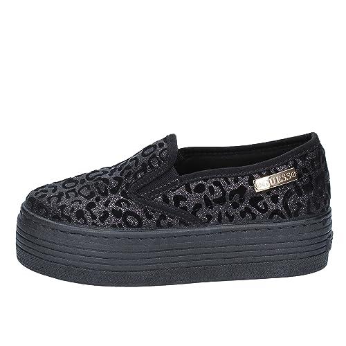 GUESS Slip on Mujer Textil Negro 40 EU: Amazon.es: Zapatos y complementos