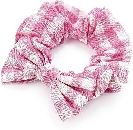 snag free scrunchies Pink Gingham Scrunchies gifts gingham scrunchies hair bands pink scrunchies hair accessories