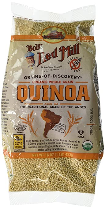 Bob's Red Mill Organic Whole Grain Quinoa, 16 Ounce