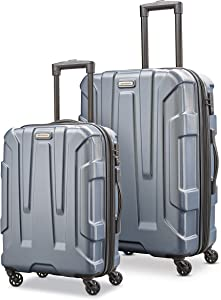 Samsonite Centric Hardside Expandable Luggage with Spinner Wheels, Blue Slate