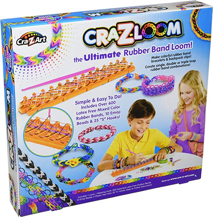 Black Night Colour Loom Bands Loom Crazy Kit with S Clips And Hook