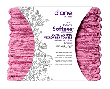 Softees Towels with Duraguard, Pink, 10pk by Fromm International BEAUTY