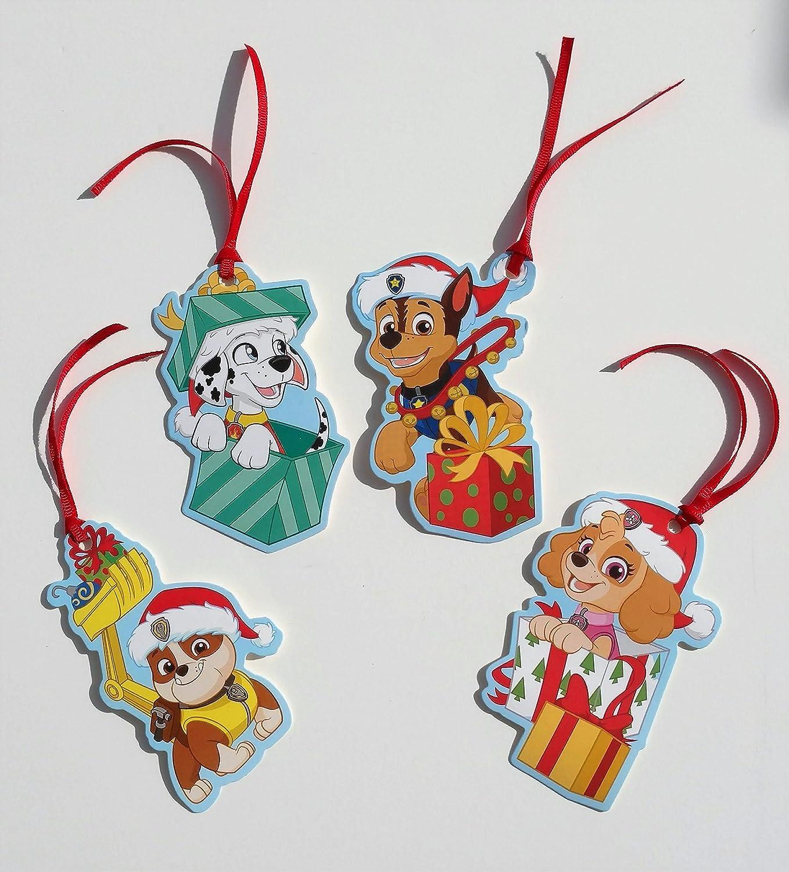 Christmas Gift Tags To Make.Paw Patrol Christmas Gift Tags With Ribbon