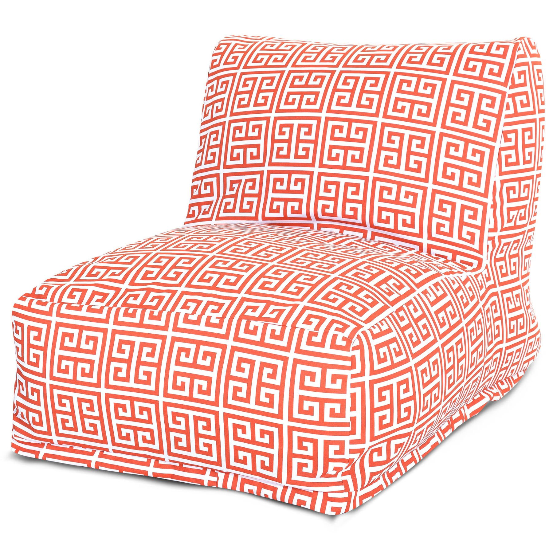 Majestic Home Goods Towers Bean Bag Chair Lounger, Orange