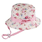 Millymook Girls Reversible Cotton Sun Hat Vintage Bucket -Pink (Infant 0-12  Months) baae7441eebb