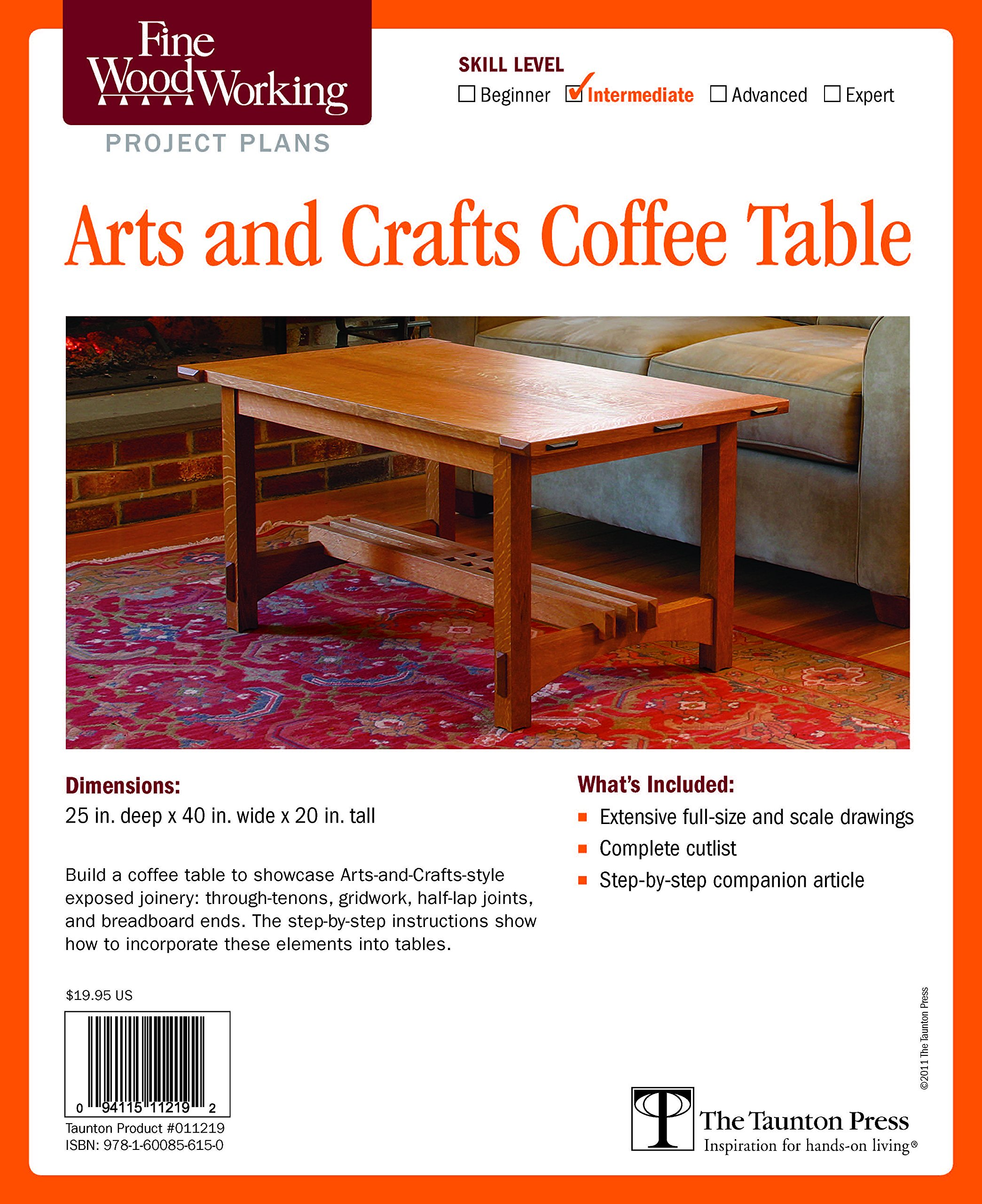 Fine Woodworkings Arts and Crafts Coffee Table Plan Editors of