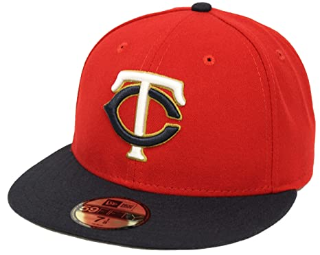 ee71abcad010 New Era 59Fifty On Field Minnesoda Twins Red Navy Fitted Cap (7 1/2