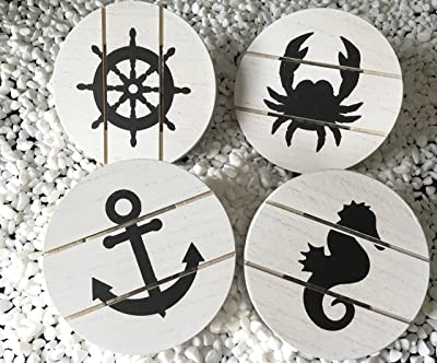 Rustic Beach Themed Coasters