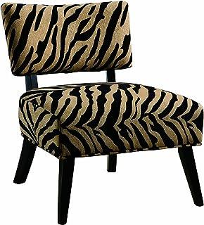 Attirant Coaster Microfiber Accent Chair, Zebra Print