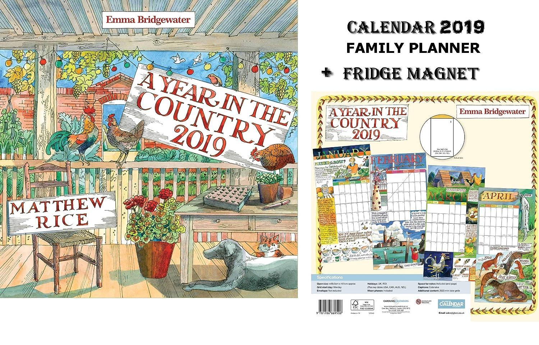 A Year in The Country 2019 Family Planner Calendario - Emma Bridgewater Matthew Rice + Blank Calamita Da Frigo CALENDARSFORLOVE