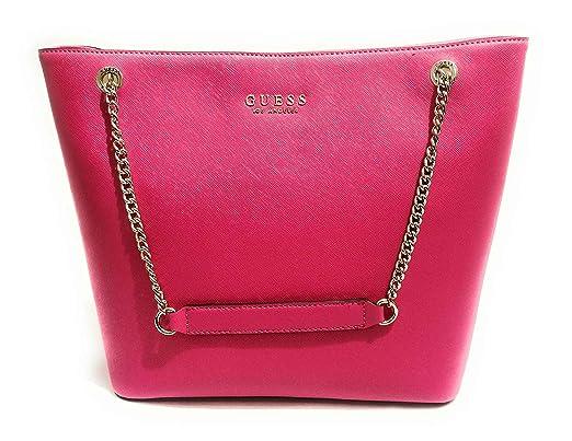 Guess , Damen Tote Tasche Pink Rosa L, Pink L: