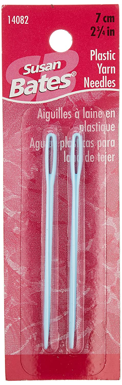 Susan Bates 14082 2-Pack Plastic Yarn Knitting Needle, 2-3/4-Inch Notions - In Network