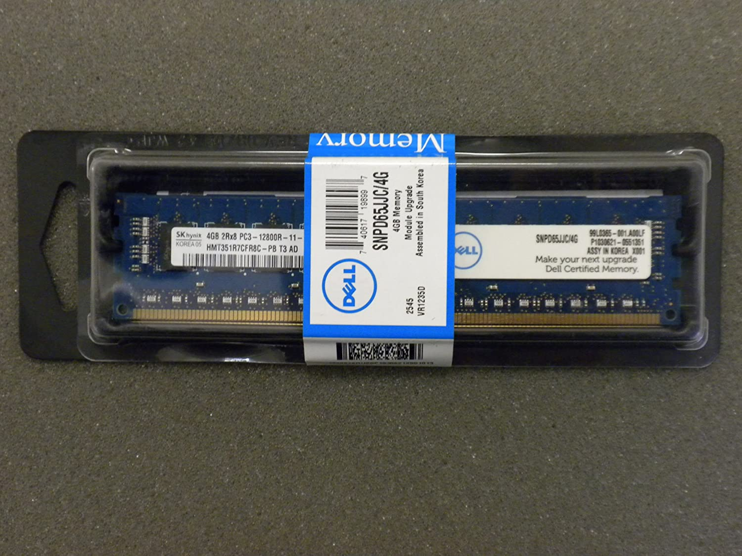 4GB Dell Memory New Sealed 2RX8 PC3-12800R for PowerEdge