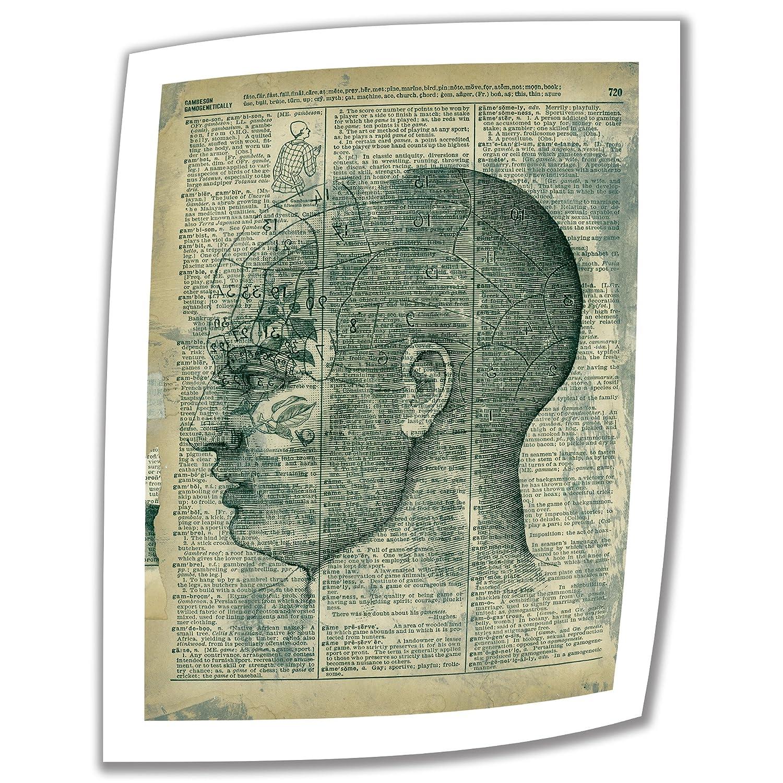 Elena Rayによるアートウォールライト 脳の思考 121.92×91.44cm ラップなしキャンバスアート 5.08cmアクセントボーダー付き B00BLFGZM0