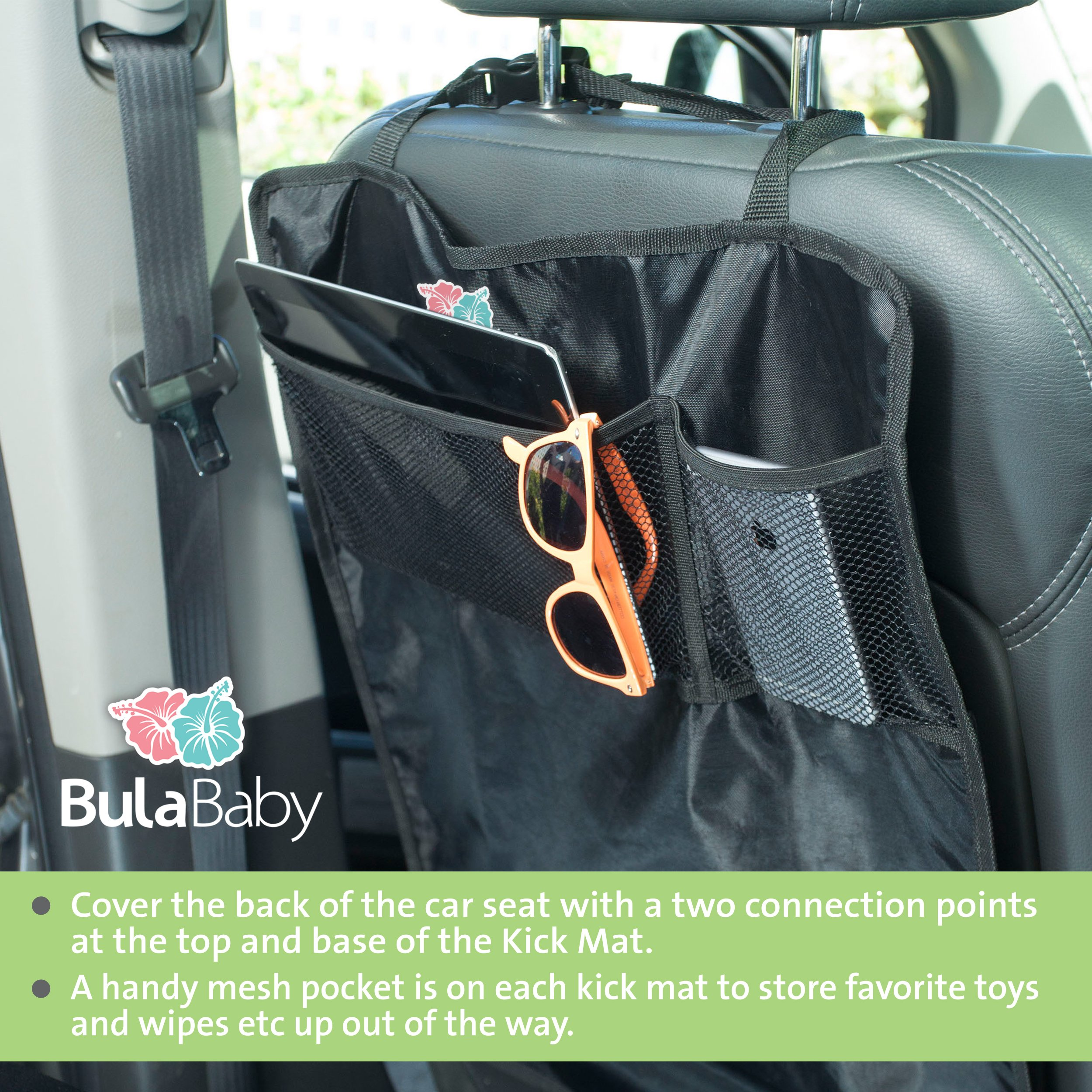 Bula Baby - Back of Seat Protector - 2 Count - Complete With Pocket Organizer by Bula Baby (Image #7)