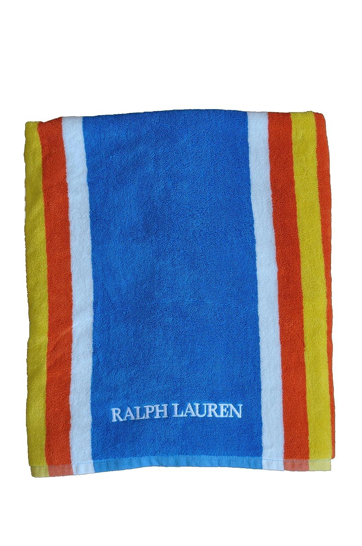 Ralph Lauren segundos nueve diseño de rayas azul toalla de playa 100% algodón: Amazon.es: Hogar