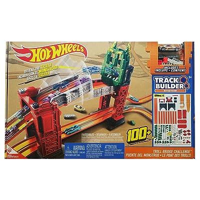Mattel Hot Wheels Track Builder Troll Bridge Challenge Playset: Toys & Games