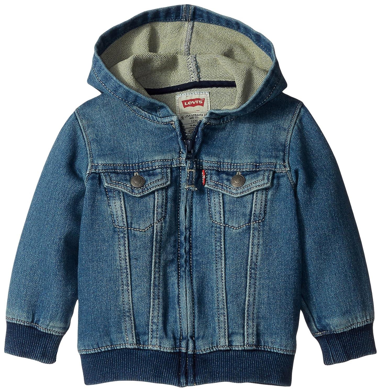 Levi's Baby Boys' Indigo Knit Denim Hoodie Levi' s Baby