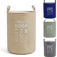 Smile Mom Laundry Basket or Bag (48 Litre) for Clothes, Best Foldable Storage Hamper for Home Bed-Room Bathroom Kids (Beige)