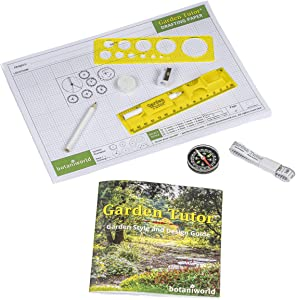 Garden Tutor Garden Design Kit - Detailed Garden Style Design Guide and All The Tools Needed to Put Your Vision onto Paper