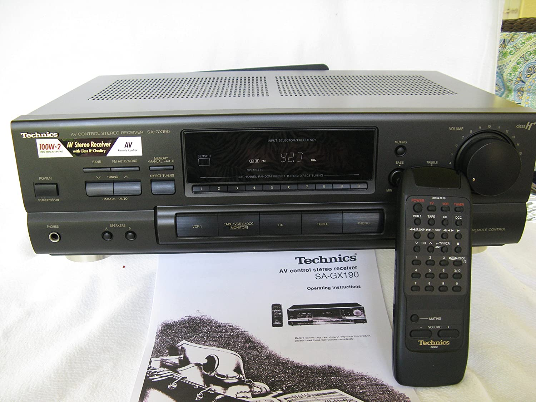 Technics SA-GX190 A/V Audio Video Stereo Receiver