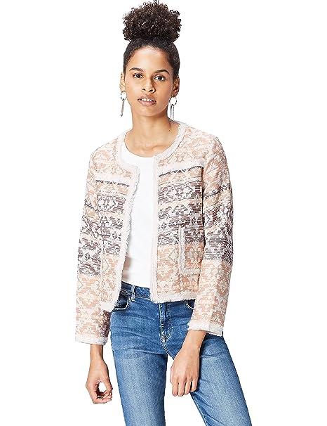 FIND Giacca Jacquard Donna  Amazon.it  Abbigliamento f528f923254