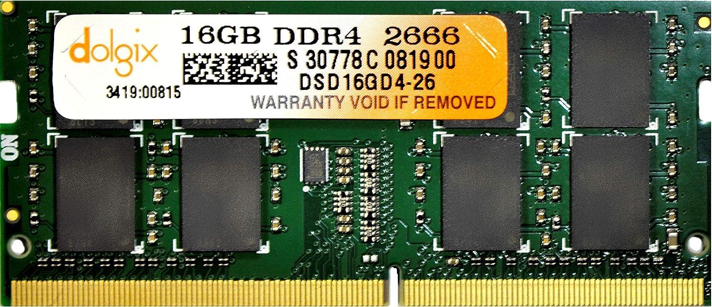 Dolgix 16GB DDR4 PC4-21300 2666MHz SODIMM 260 Pin 1.2V CL19 Laptop Memory Module Ram Upgrade