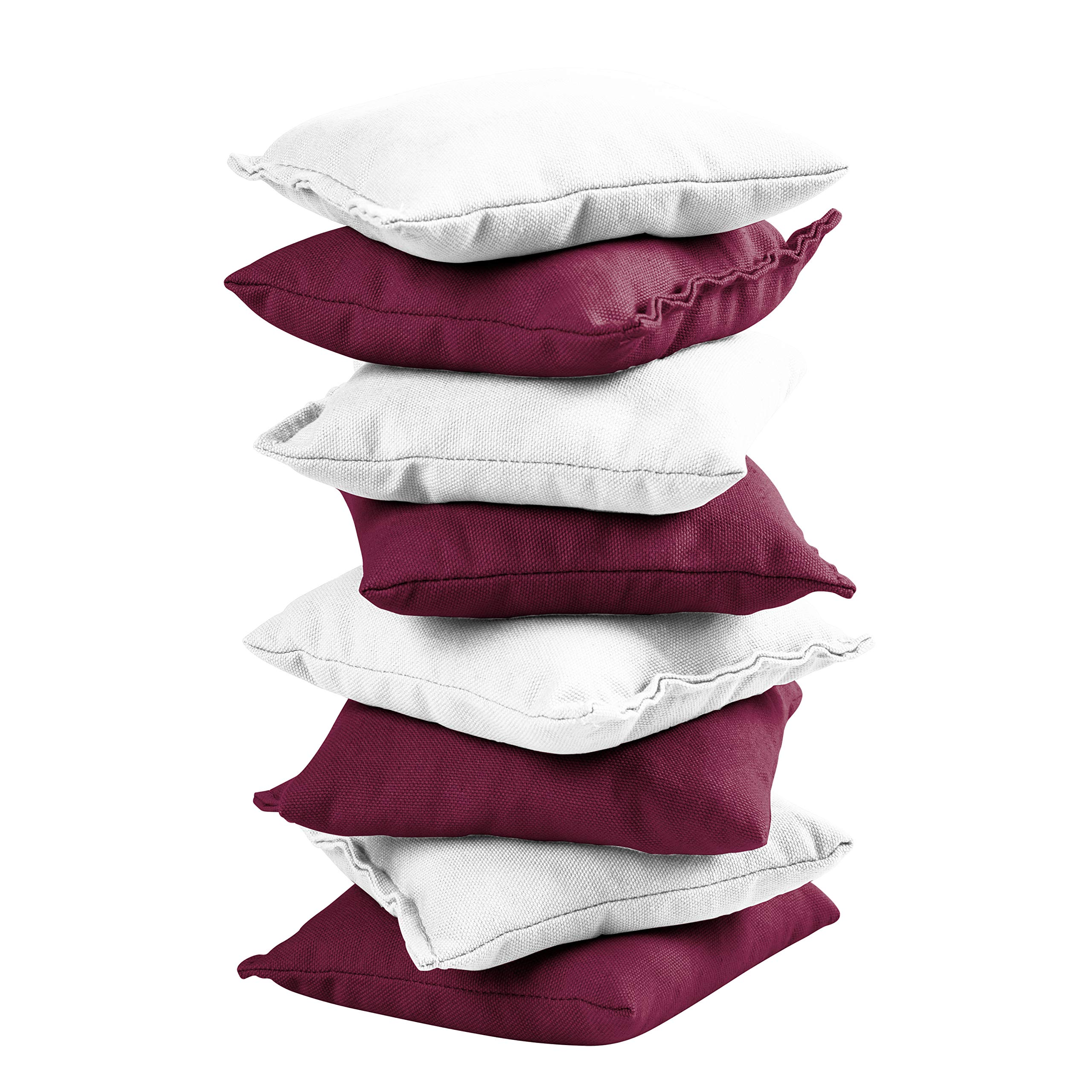 Victory Tailgate 8 Colored Corn Filled Regulation Cornhole Bags with Drawstring Pack (4 Burgundy, 4 White) by Victory Tailgate (Image #2)