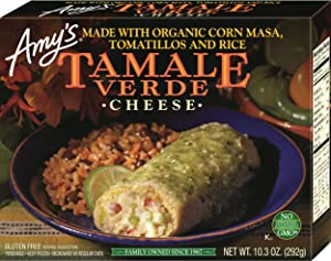 Amy's Tamale Verde, Cheese, 10.3 Ounce (Frozen)