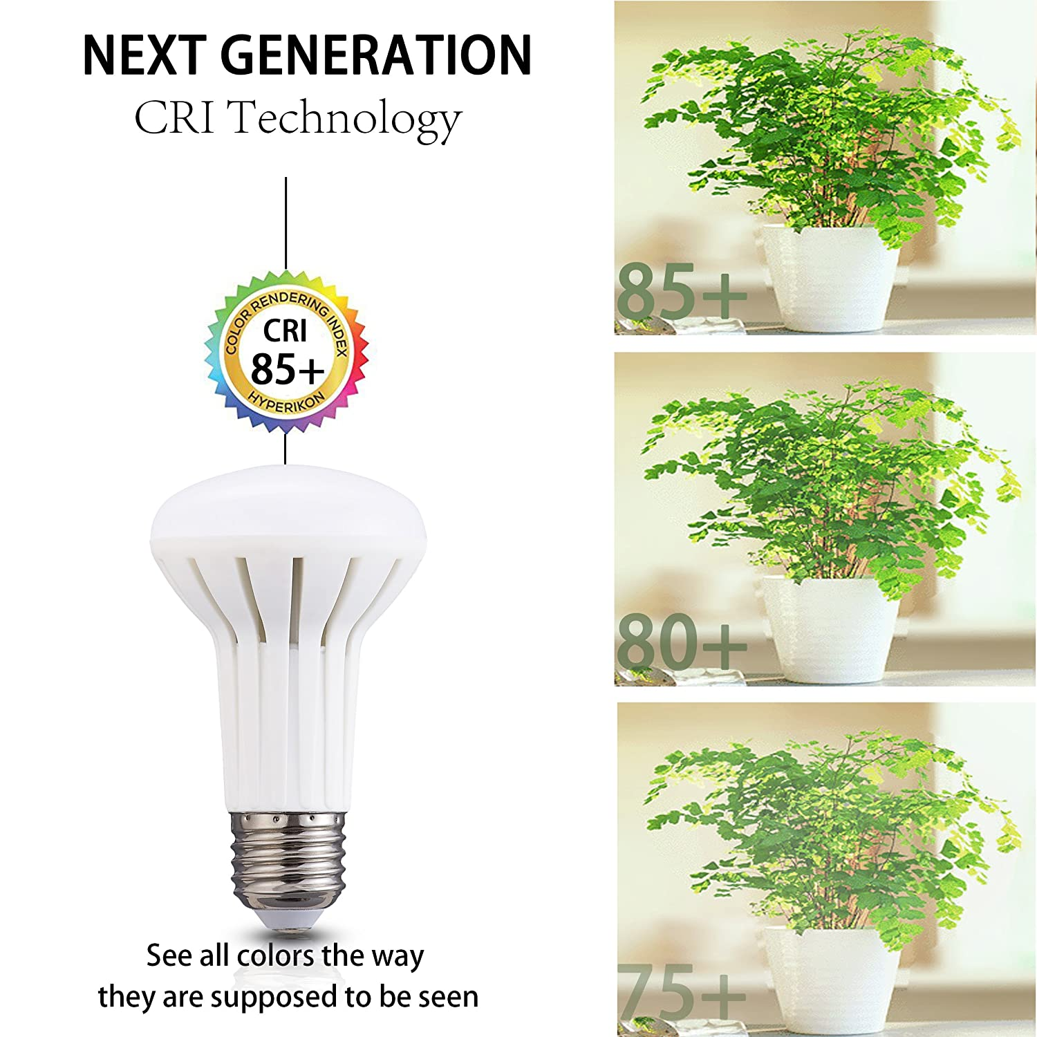 Daylight White 5000K Light Bulb for Recessed Track 5W LED BR20 Non Dimmable Light Bulb,45 W Halogen equivalent YMZM Pack of 6 E26 Base,Indoor//Outdoor lighting 500lumens and Pendant Lighting Fixtures