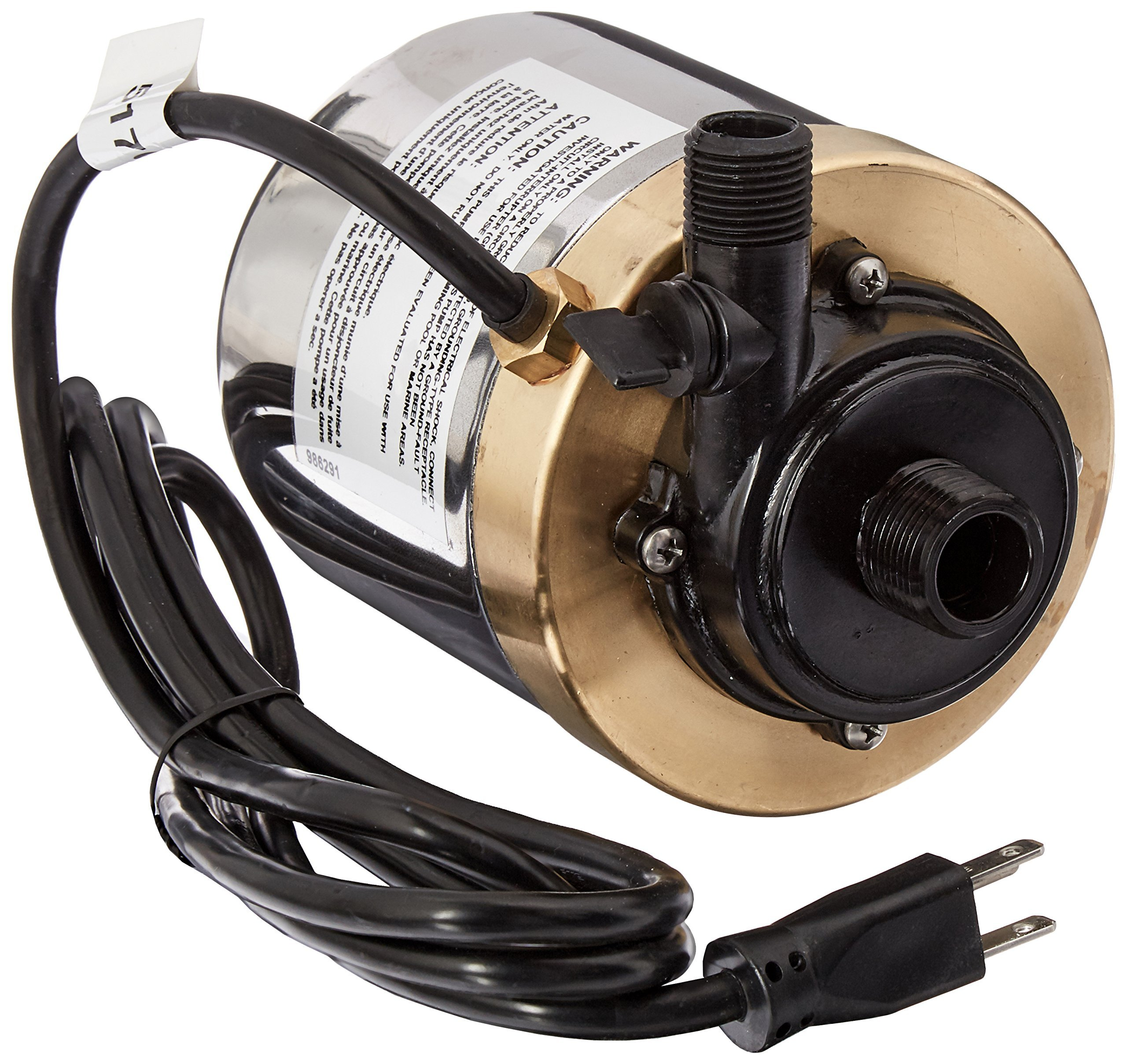 Little Giant 517011 Stainless Steel 1200GPH Pump with 6-Feet Cord, Bronze